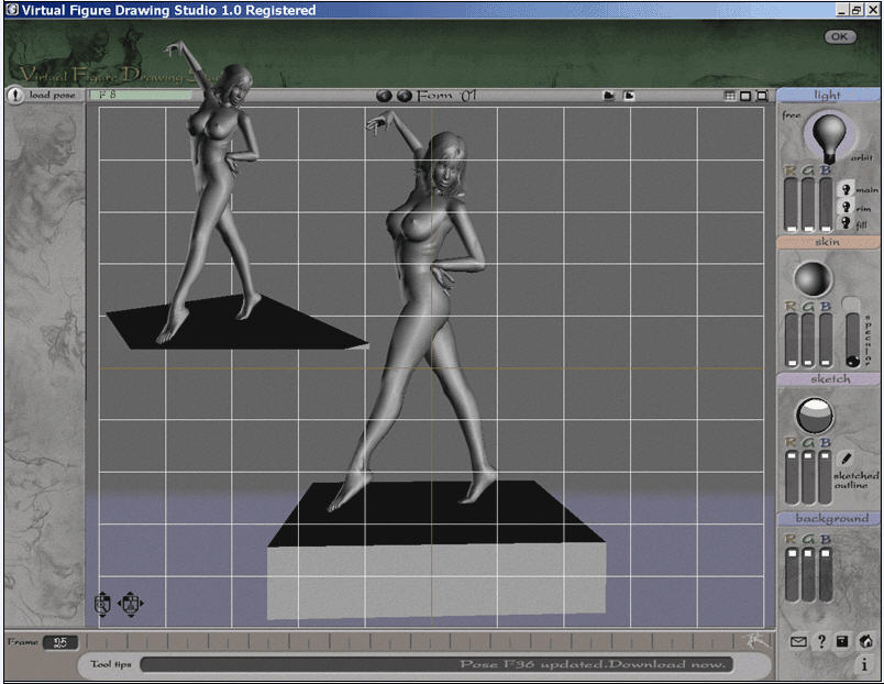 3d Virtual Figure Drawing Studio Female Figure Drawing