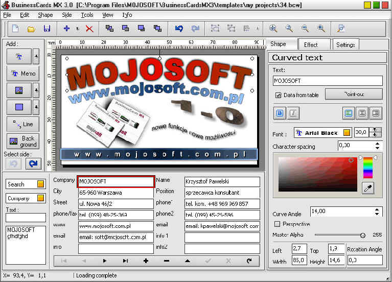 Business cards mx create and print business card screenshot view screenshot reheart Gallery