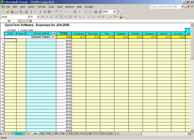 profit loss report spreadsheet for home to keep track income expenses. Black Bedroom Furniture Sets. Home Design Ideas