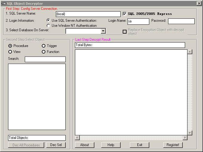 Dmt software sql decryptor v2.4.2.0 incl keymaker embrace