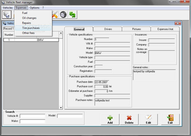 Vehicle Fleet Management : Vehicle fleet manager is a managment software