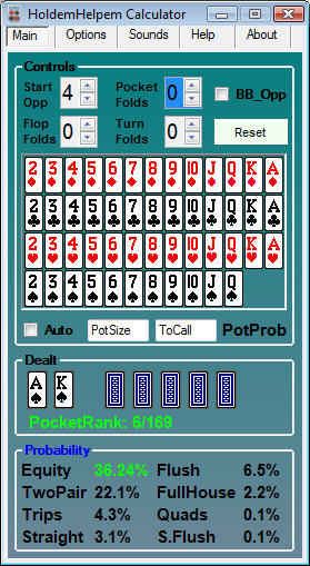free texas holdem hand calculators