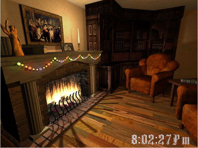 Christmas Fireplace 3D