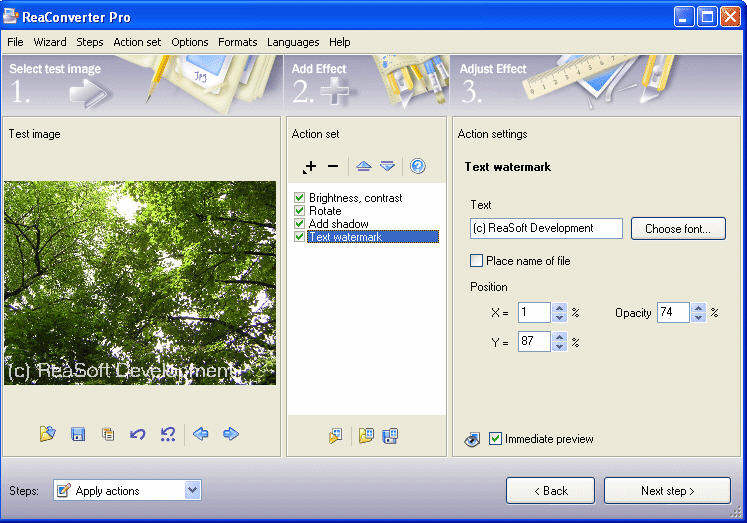 ReaConverter Pro - Convert images to JPG, GIF, BMP, PBM, PGM, PNG, More Screenshots - Click each image to enlarge!