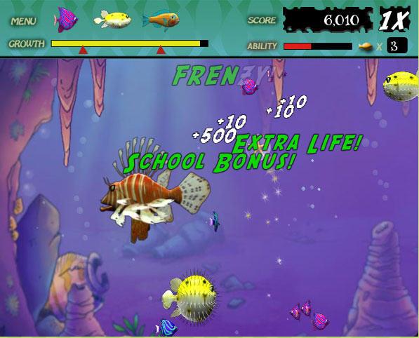 Feeding frenzy for Fish eat fish game