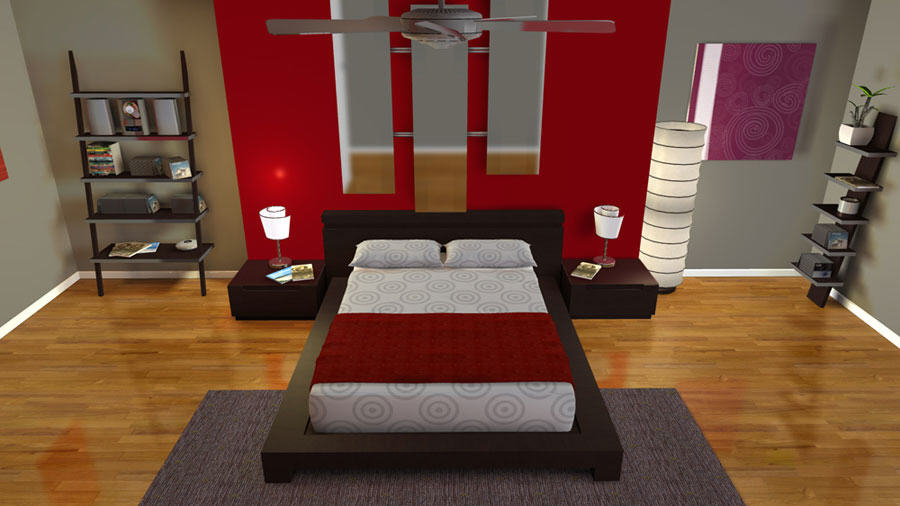Myvirtualhome 3d home design software design house in 3d faster Design a bedroom online free